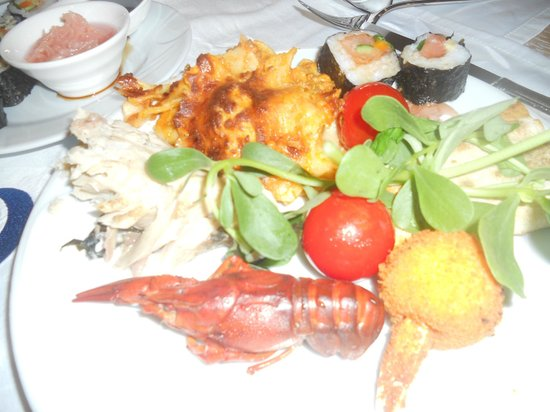 Club Mega Saray: тарелочка на ужин