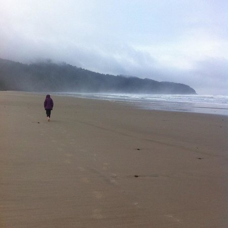 Cape Lookout State Park: Morning walk on the beach at Cape Lookout.