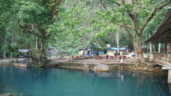 Tham Phu Kham Cave and Blue Lagoon: A really nice way to cool off in Vang Vieng