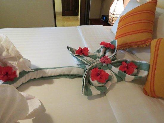 Sleeping Giant Lodge : towel animals