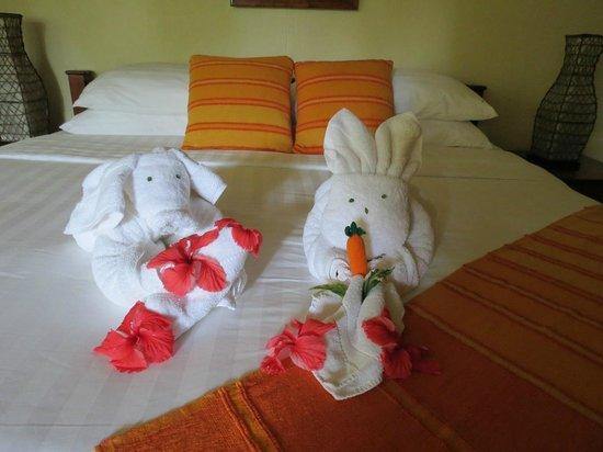 Sleeping Giant Lodge: more towel animals