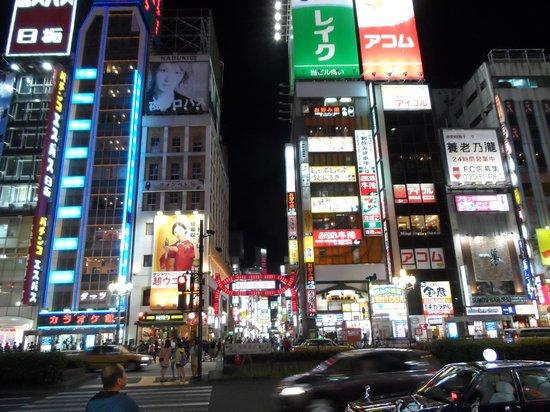 Shinjuku Prince Hotel: shops, restuarants next to hotel