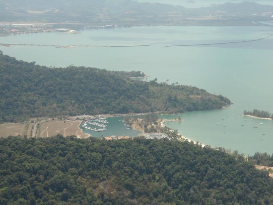 The Danna Langkawi, Malaysia: View down to Danna from cable car