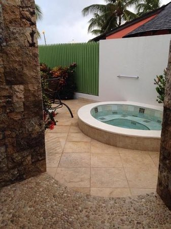 Sandals Grande St. Lucian Spa & Beach Resort: our private Jacuzzi next to the noisy neighbors