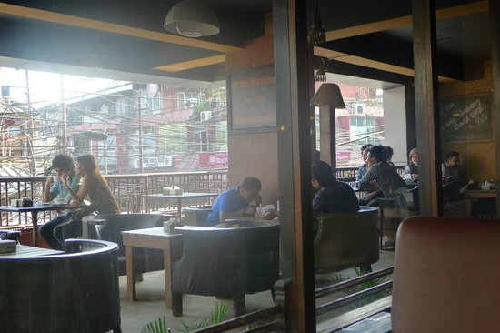 Himalayan Java Coffee: outdoor and indoor seating