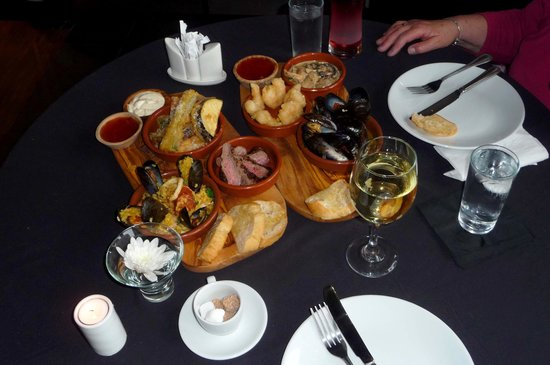 The Royal Hotel: Tapas, lovely spread