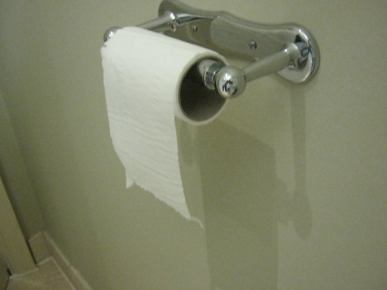 The George Hotel: Left over toilet roll from the previous occupants, just to show you're custom is valued.