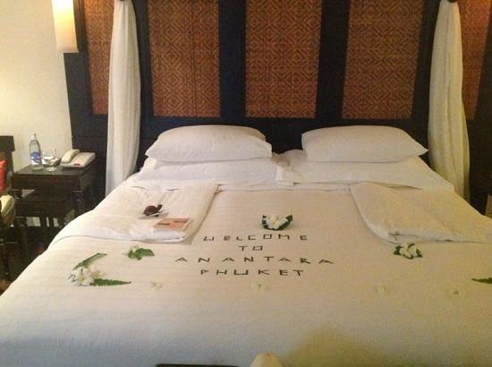 Anantara Mai Khao Phuket Villas: our welcome msg