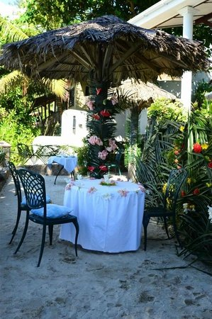 Anse Soleil Beachcomber : Decorated Wedding Venue