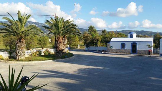 Aslanis Village : View from reception of car park/entrance