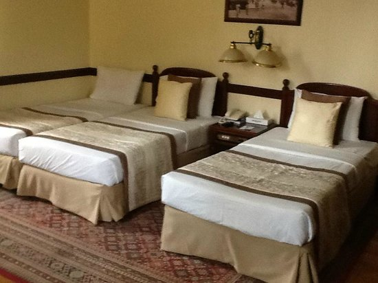 The Grand Hotel : twin beds