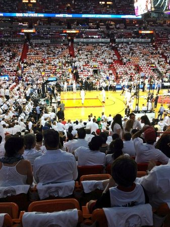 American Airlines Arena: White Hot