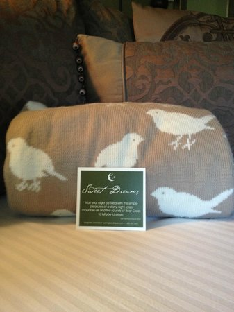 Highland Haven Creekside Inn: For the cool nights.