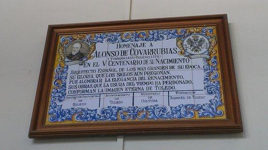 Monastery of San Juan de los Reyes: Табличка