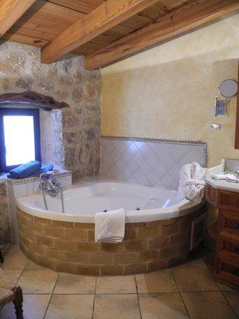Finca Hotel Albellons Parc Natural : Bad in der Suite