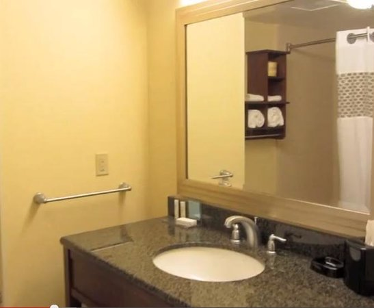 Hampton Inn & Suites Orlando Airport @ Gateway Village : double queen bathroom