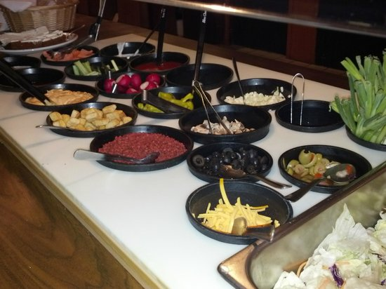 Country Heights Supper Club and Motel: Country Heights Supper Club - Freshly made, in house - Salad Bar - Hazel Green WI