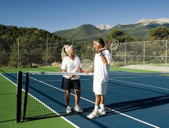 Tennis courts at Mount Princeton Hot Springs Resort