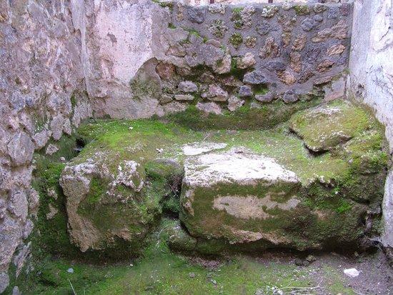 Tours Pompei: Cama del lupanar, en piedra
