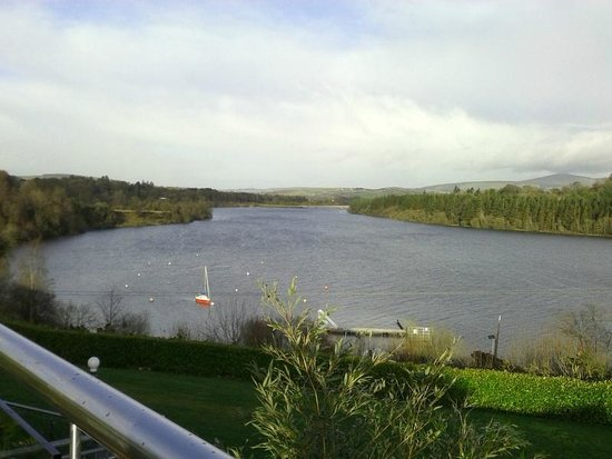 Avon Ri: View from Bar terrace overlooking Blessington Lakes