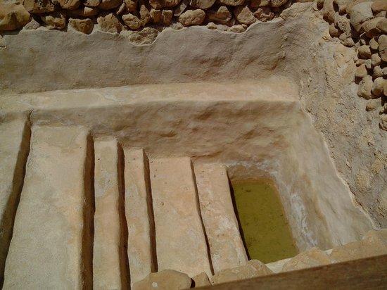 Qumran Caves: Une des nombreuses mikvé, là où se purifié 3 fois par jour les Esseniens