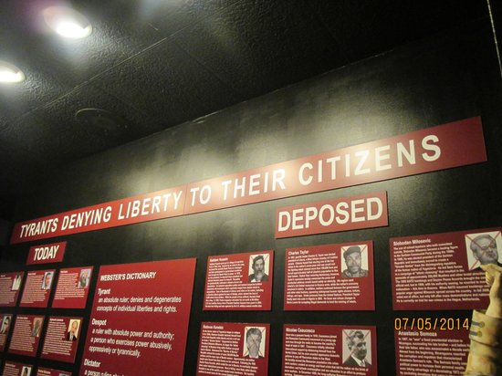 National Liberty Museum : Le hit-parade des tyrans