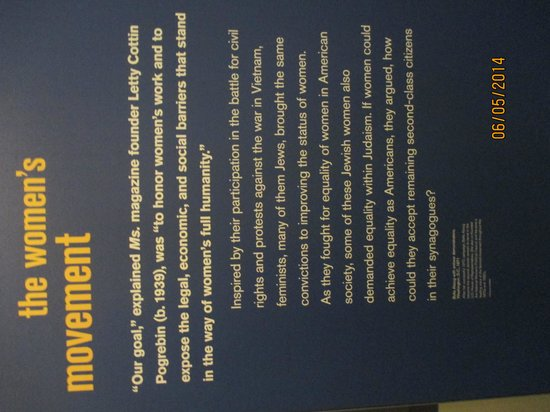 National Museum of American Jewish History: La place des femmes