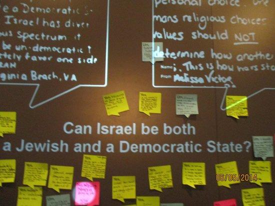 "National Museum of American Jewish History: ""Israel est-il un Etat démocratique?"""