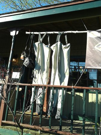 The Hungry Trout Resort : The shop complete with drying waders