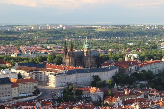 Petrin Tower (Rozhledna) : Prague Castle from Petrin Tower