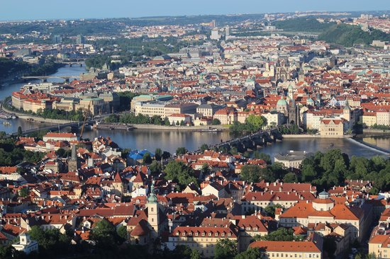 Petrin Tower (Rozhledna) : Charles Bridge from Petrin Tower