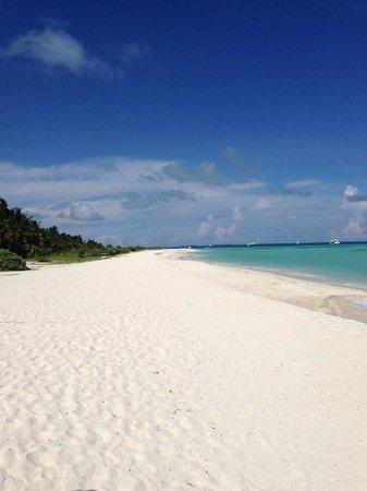 Meeru Island Resort & Spa : Gorgeous white sand beaches and clear water