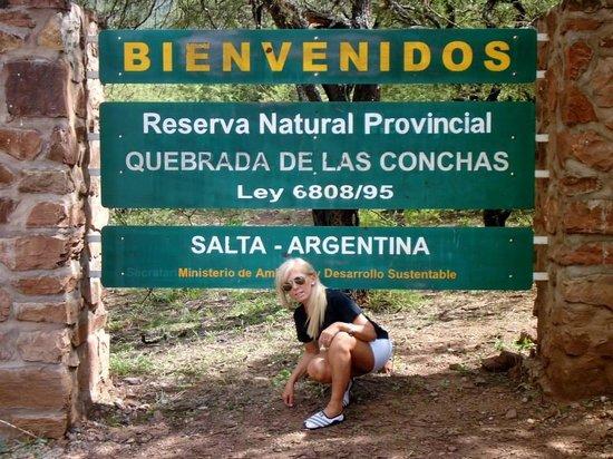Quebrada del Rio de las Conchas: Cartel indicador