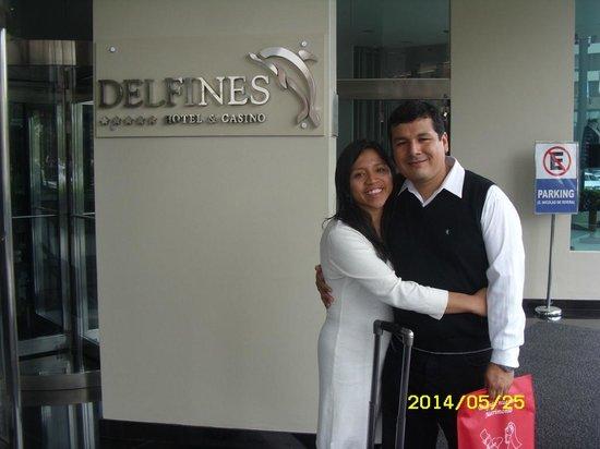 Delfines Hotel & Casino: Felices después de haber disfrutado este tiempo
