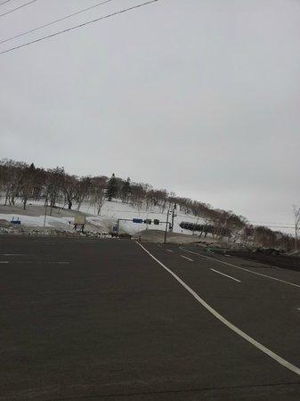 Nakayama Pass: Vista da estrada, em frente ao local