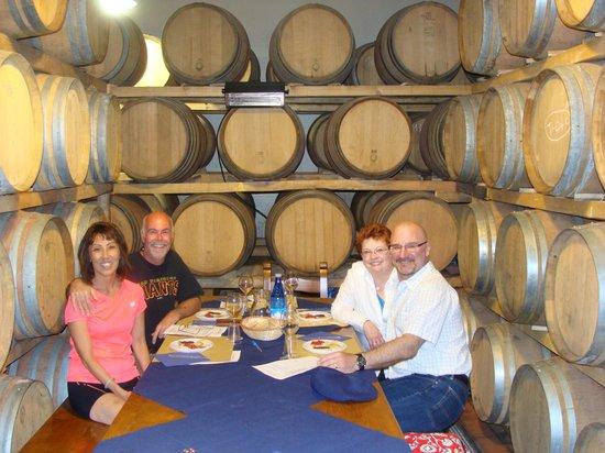 """Azienda agricola POGGIO GRANDE: Sitting inside the """"Oak Room"""" for lunch"""