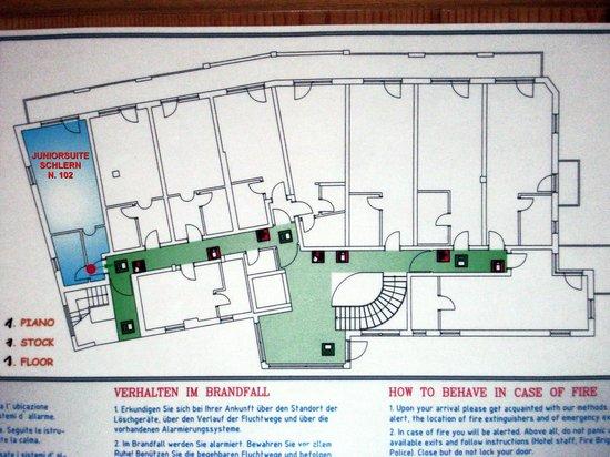 Hotel Plunger: Piantina del primo piano