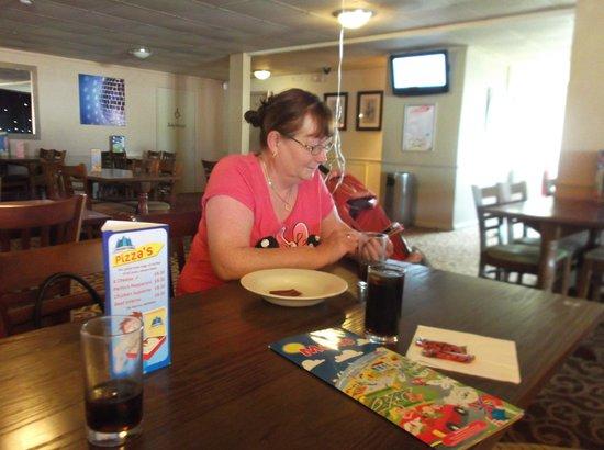 Alberta Holiday Park - Park Holidays UK: my mum after dinner