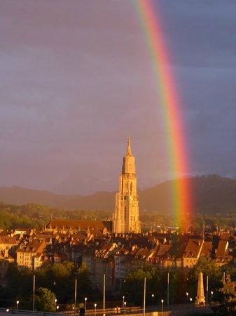 Vom Meridiano aus, Blick zum Regenbogen.
