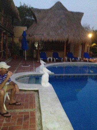 Hotel La Joya pool at night