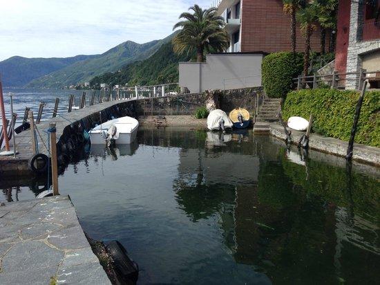 Art Hotel Posta al Lago: Aussicht aus dem Garten