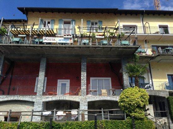 Art Hotel Posta al Lago: Hotel-Terrasse, ein Traum!
