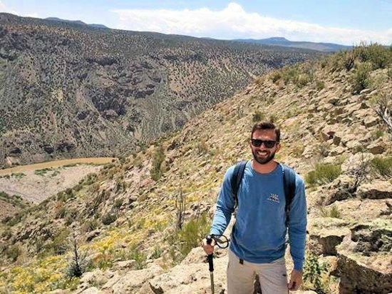 Outspire Hiking and Snowshoeing: At the top of the hike, overlooking the Rio Grande