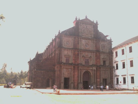 Outside Basilica of Bom Jesus