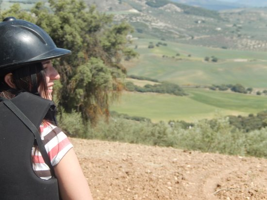 Sierra Pelada Horse Riding School: My sister and the view