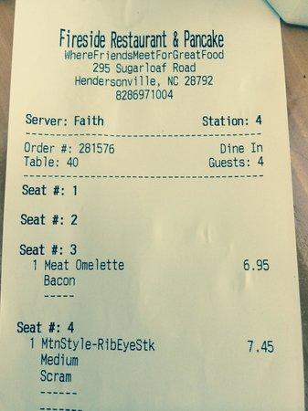 Fireside Restaurant & Pancake Inn : Rude waitress!  If you happen to get her, ask for someone else!