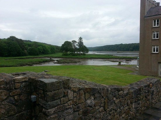 Slebech Park: view of the estuary from the hotel