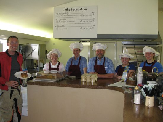 3 Questions Coffee House: Friendly staff and happy customer!
