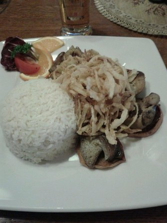 Berenyi Fogado : Rise onion duck and bed of apple