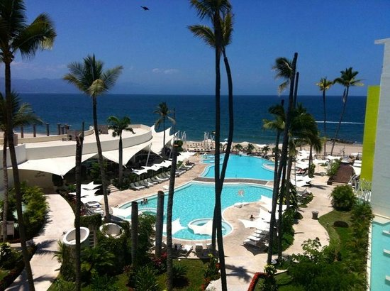 Hilton Puerto Vallarta Resort: View from rooms with Jacuzzi